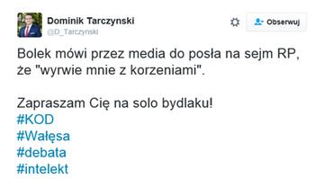Poseł PiS szokuje. Do Wałęsy: zapraszam cię na solo, bydlaku!
