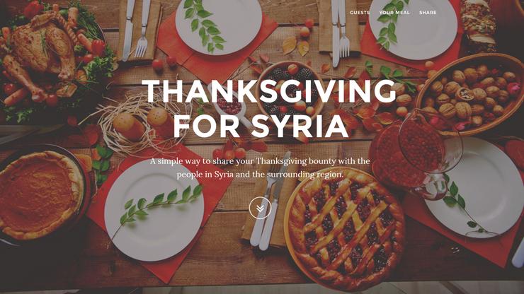 Amerykanie pomagają Syryjczykom. Przekazują im pieniądze, które wydaliby na Święto Dziękczynienia