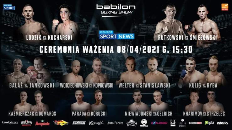 Babilon Boxing Show: Ceremonia ważenia. Transmisja w Polsacie Sport News i na Polsatsport.pl