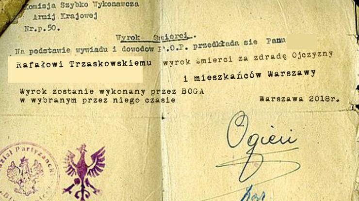 """Kandydat na prezydenta Gdańska opublikował post z """"wyrokiem śmierci"""" dla Rafała Trzaskowskiego"""