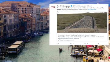 Antyczna droga i molo. Odkrycie w Wenecji