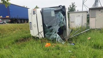 Opolskie: wypadek autobusu. Dzieci wśród poszkodowanych