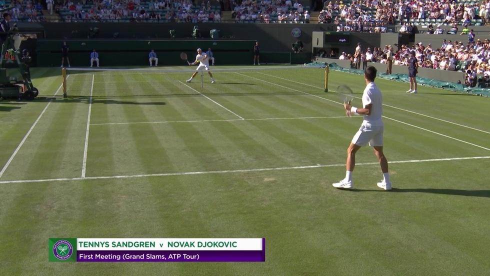 Tennys Sandgren - Novak Djokovic