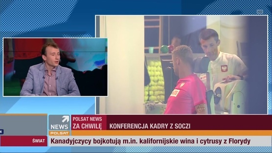 Konferencja reprezentacji Polski: Nawałka, Bereszyński, Rybus - 14.06.2018